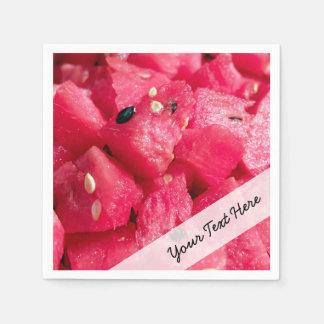 nytt fruktigt foto av skivad vattenmelonsallad servett