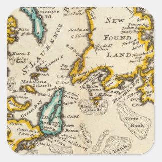 Nytt funnit land, fjärd för St Laurence, Acadia Fyrkantigt Klistermärke