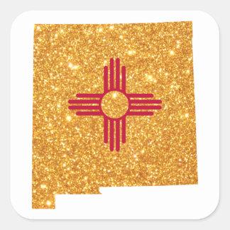 Nytt guld- glitter - mexico fyrkantigt klistermärke