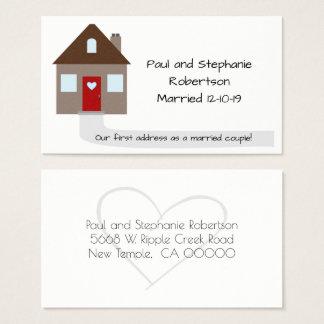 Nytt hem för nygift person visitkort