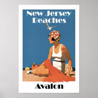 Nytt - jerseyen sätter på land ~ Avalon Poster