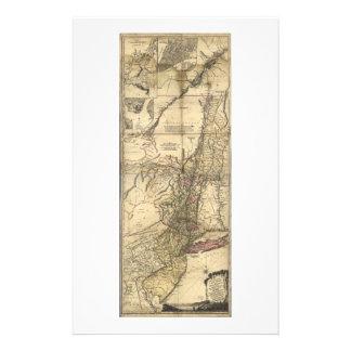 Nytt - jerseyPennsylvania New York karta (1777) Brevpapper