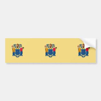 Nytt - jerseystatlig flaggadesign bildekal