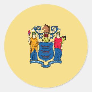 Nytt - jerseystatlig flaggadesign runt klistermärke
