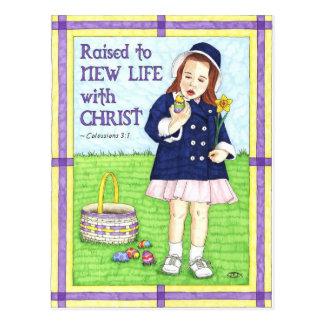 Nytt liv i inspirera vykort för Kristuspåsk