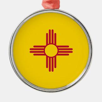 Nytt - mexico statlig flagga julgransprydnad metall
