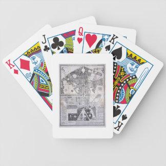 Nytt planera av townen, rockera och trädgårdar på  spelkort
