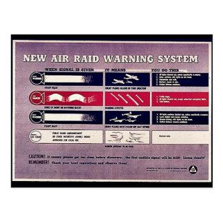 Nytt system för luftrazziavarning vykort