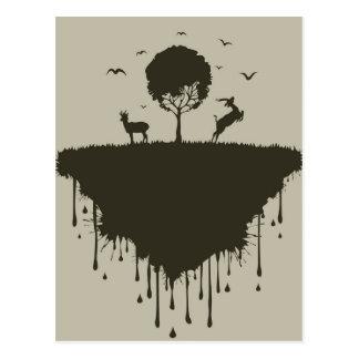 Ö av hjort vykort