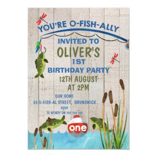 O-Fish_Ally en vattenfärgfödelsedaginbjudan 12,7 X 17,8 Cm Inbjudningskort