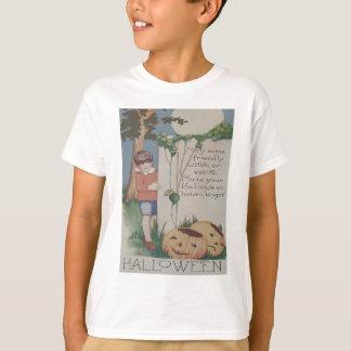 O för jack för fullmåne för pojkepumpaVine lykta T-shirt