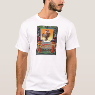 O för jack för måne för ugglafladdermöss växande t shirt