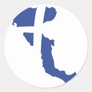 ö för korfucorfu grek runda klistermärken