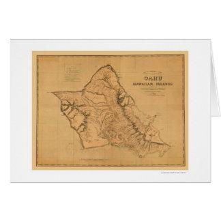 Oahu Hawaii järnvägkarta 1881 Hälsningskort