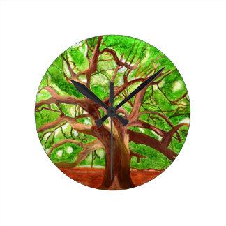 Oakträd Rund Klocka
