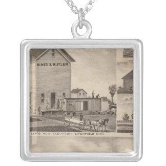 Oakwoodlantgård, Minnesota Silverpläterat Halsband