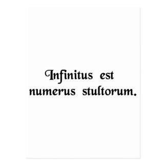 Oändlig är numrera av fools. vykort