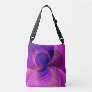 Oändlighetsblått och purpurfärgad modern abstrakt axelväska