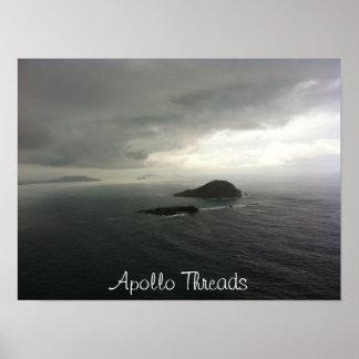 Öar för Apollo trådkanin av Hawaii Poster
