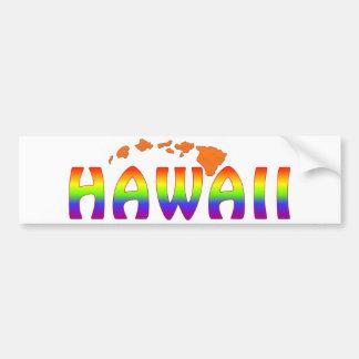 Öar för regnbågeHawaii orange Bildekal