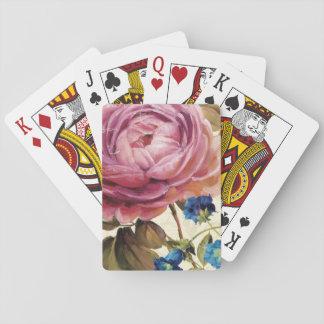 Oavkortad blom för rosa ros spel kort