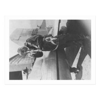Oavkortat Howard Hughes pilot- logiflygplan Vykort