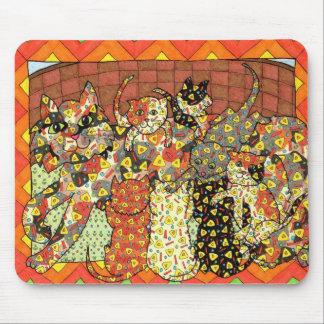 Oaxacan katt och kattungar musmatta