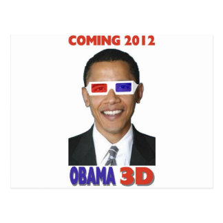 Obama 3D Vykort
