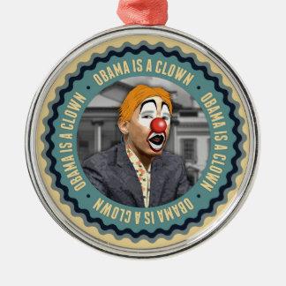 Obama är en clown julgransprydnad metall
