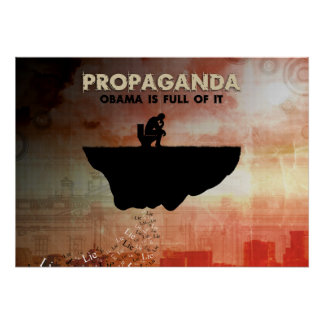 Obama är fullt av propaganda poster