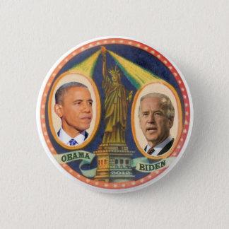 Obama Biden damfrihet 2012 Standard Knapp Rund 5.7 Cm