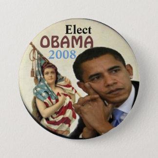Obama/damfrihet knäppas mellanstor knapp rund 7.6 cm