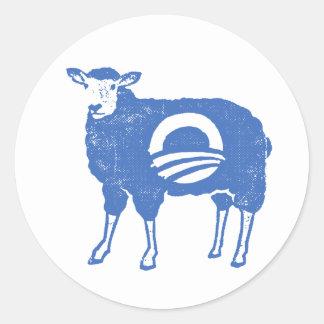 Obama fårklistermärke runt klistermärke