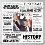 Obama: Från dröm till historierubrikaffischen Posters