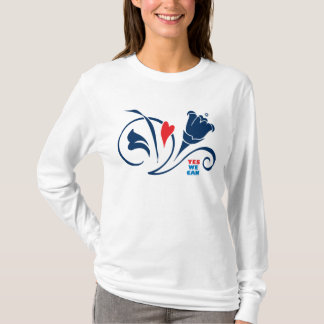 Obama - ja kan vi, den kärlekblommarHoody T-tröja T-shirts