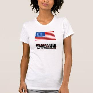 Obama låg, och ekonomin dog tröjor