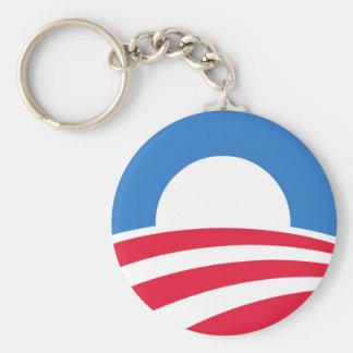 Obama logotyp 2012 Keychain Rund Nyckelring