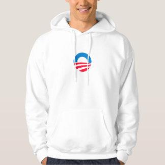 Obama logotyphoodie tröja med luva