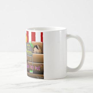 Obama sparar unionen kaffemugg