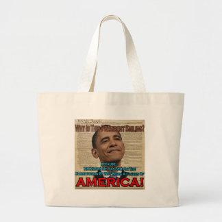 Obama spottar på konstitution kasse