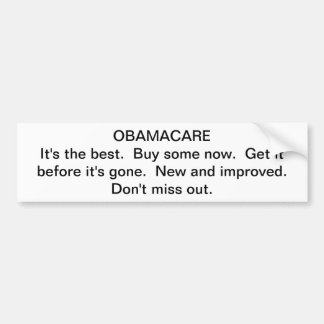 Obamacare propaganda bildekal