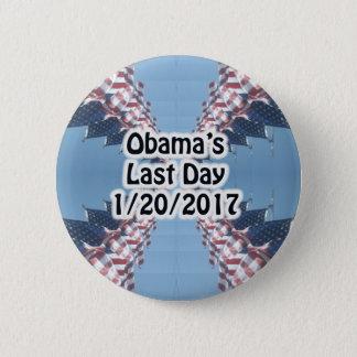 Obamas knäppas sist dag 1/20/2017 standard knapp rund 5.7 cm