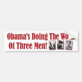 Obamas som gör arbetet av tre manar! bildekal