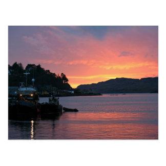 Oban hamn, Skottland Vykort