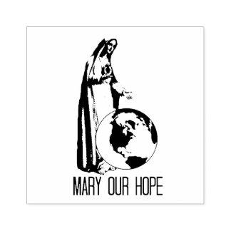 Obefläckade Mary vårt hopp Fatima Stämpel