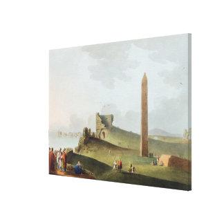 Obelisksna på Alexandria som kallas Cleopatras Nee Canvastryck