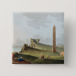 Obelisksna på Alexandria som kallas Cleopatras Nee Standard Kanpp Fyrkantig 5.1 Cm