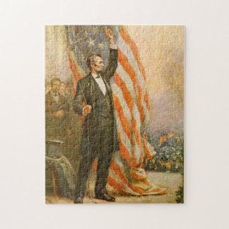 Oberoende för president för vintageAbe Lincoln ame Pussel