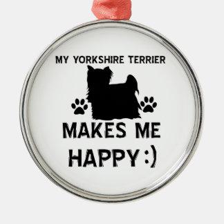 Objekt för gåva för Yorkshire Terrier Julgransprydnad Metall
