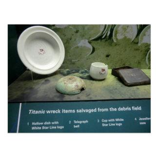 Objekt som bärgas från det Titanic Vykort